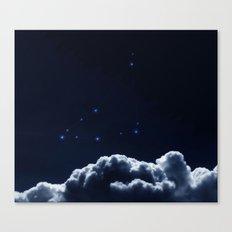 Constellation Capricorn - Dark Blue Clouds Canvas Print