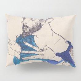 """Egon Schiele """"Gustav Klimt im blauen Malerkittel"""" Pillow Sham"""
