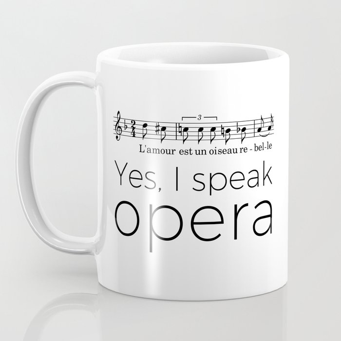 I speak opera (mezzo-soprano) Coffee Mug