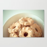 cookies Canvas Prints featuring Cookies! by Basic Design