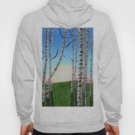 Birch Trees at Sunset Hoody