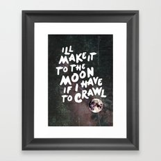 To the Moon Take 2 Framed Art Print
