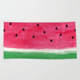 Watermelon Abstract Beach Towel