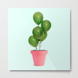 CACTUS BALLOON Metal Print