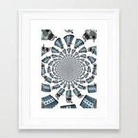 dalek Framed Art Prints featuring Dalek by Natasha Lake