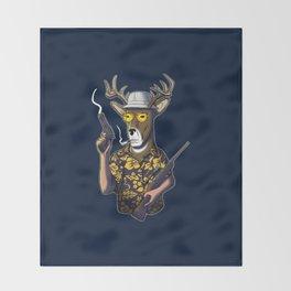 Deer Hunter Throw Blanket