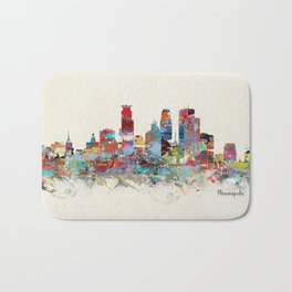 Minneapolis Minnesota skyline Bath Mat
