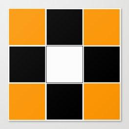 Team Color 3 ...black and Orange Canvas Print