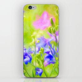 Delphinium Meadow iPhone Skin