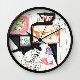 going out / staying in Wall Clock