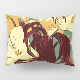 Spring is coming. Abstract vector image of beautiful lilies Pillow Sham