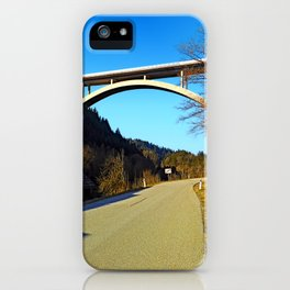 Mighty valley bridge | architecture photography iPhone Case