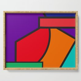 cubism tribute - pop art Serving Tray