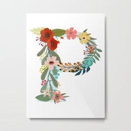 Monogram Letter P Metal Print
