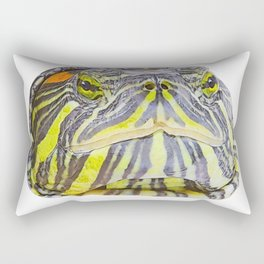Red Eared Slider Face Terrapin Similar Lymphatic Vessels Rectangular Pillow