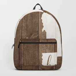 Vermont is Home - White on Wood Backpack