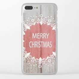 Merry Christmas #2 Clear iPhone Case