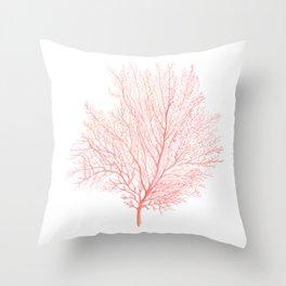 Coral Sea Fan Throw Pillow