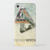 escher iPhone & iPod Cases featuring escher hitch by Vin Zzep