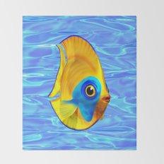 Tropical Fish on Clear Ocean Water 3D Throw Blanket