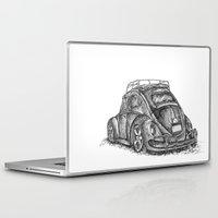 volkswagen Laptop & iPad Skins featuring Volkswagen Beetle by Akkattoos