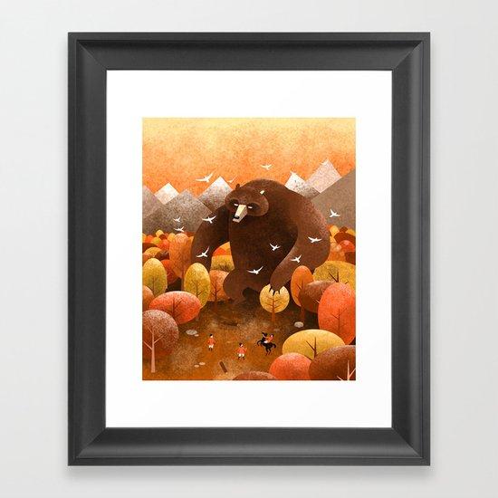 Giant bear Framed Art Print