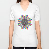funky V-neck T-shirts featuring FUNKY! by A-Devine
