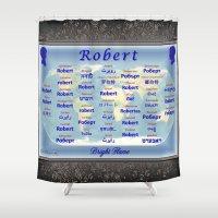robert farkas Shower Curtains featuring Robert by JMcCombie