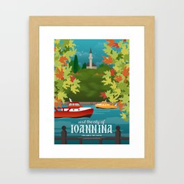 Ioannina, The Lake & The Mosque at the Castle (GR) Framed Art Print