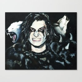 Wild Man with Wolves Canvas Print