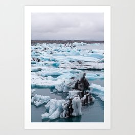 Ice map Art Print