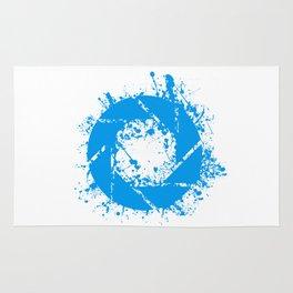 Portal Splatter Logo Rug