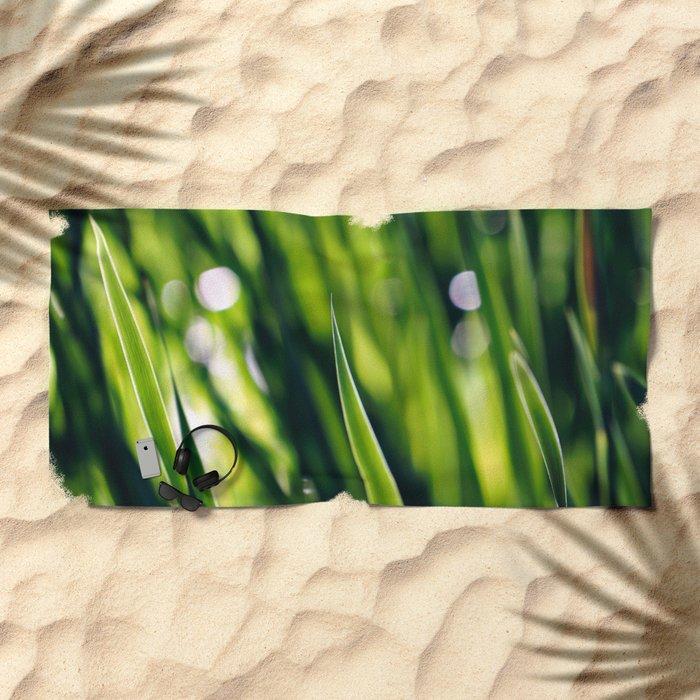 Green Beach Towel