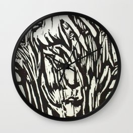 Tree Woman- Woodcut Wall Clock