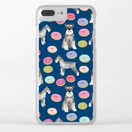 Schnauzer dog breed donuts doughnut pet art schnauzers pure breed gifts Clear iPhone Case