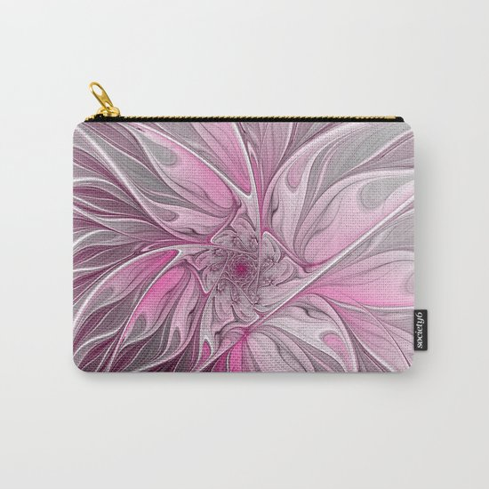 Abstract Pink Floral Dream Carry-All Pouch