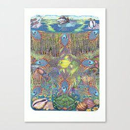 Pavonian nets of the dream, or bodyguards of the miracle Canvas Print