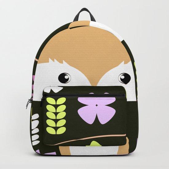 Fox among flowers II Backpack