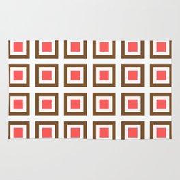 Chocolate Brown + Coral: Pattern No. 13B Rug