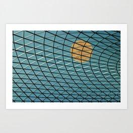 Through the glass roof - Minimalist urban photography Art Print