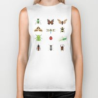 insects Biker Tanks featuring insects by Alysha Dawn