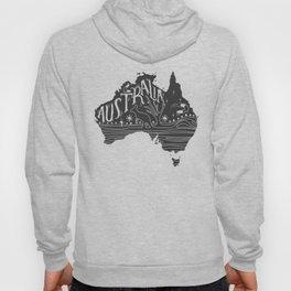 Australia map typo doodle Hoody
