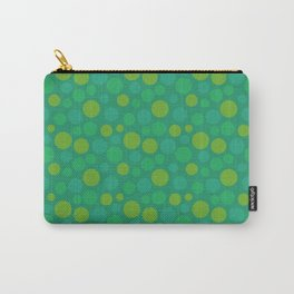 animal crossing grass pattern circle spring green Carry-All Pouch