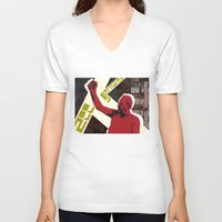 snatch V-neck T-shirts featuring zee germans  by Andra Vlasceanu