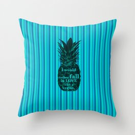 I would rather fall in love with a vegan - Carlton Lassiter quotes Throw Pillow