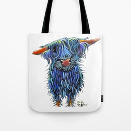Scottish Highland Cow ' THoMaS ' by Shirley MacArthur Tote Bag