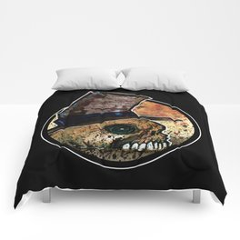 Skull in a Top Hat Comforters