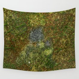 Old stone wall with moss Wall Tapestry