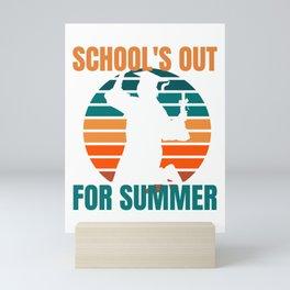 School's Out for Summer  - Graduation Mini Art Print