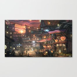 Market Place Canvas Print